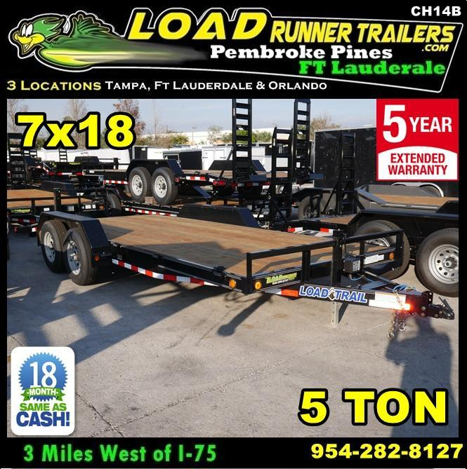 *CH14B* 7x18 Car Haulers & Trailers Hauler & Trailer w/Brakes 7 x 18 | CH82-18T5-2B
