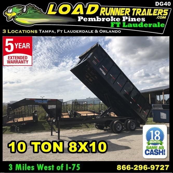 *DG40* 8x20 10 TON Trailers |Gooseneck Dump Trailer 8 x 20 | DG96-20T10-48S in Ashburn, VA