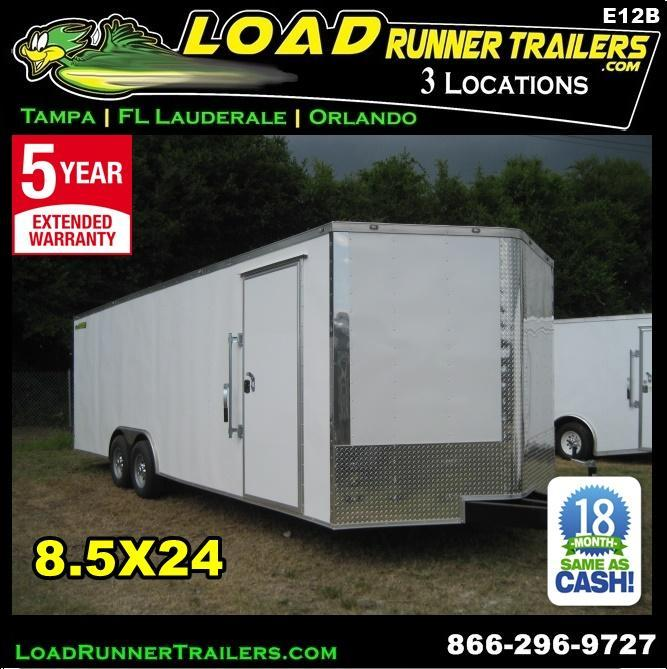 *E12B* 8.5x24 Enclosed Hauler Cargo Trailer Car Haulers 8.5 x 24   EV8.5-24T5-R in Ashburn, VA