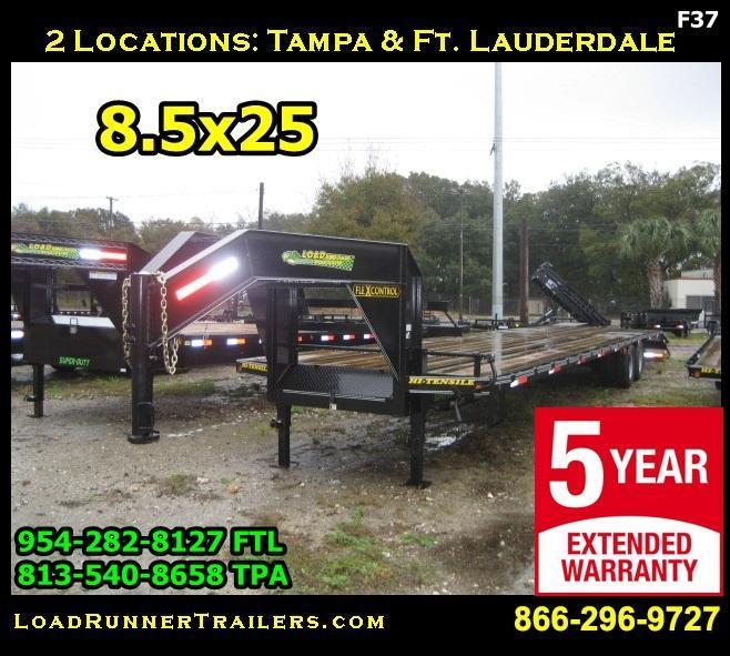 *F37* 8.5x25 Flatbed Gooseneck 7 TON Trailer 8.5 x 25   FG102-25T7-MPD