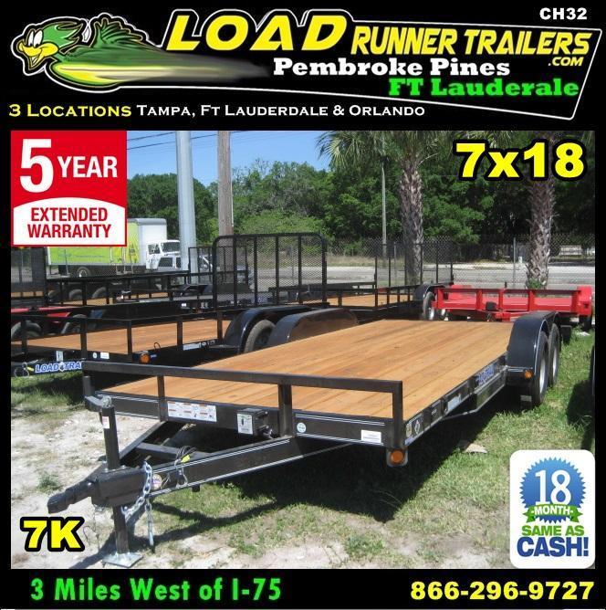 *CH32* 7x18 LR Car Hauler Trailers Haulers & Trailer w/brakes 7 x 18 | CH83-18T3-1B