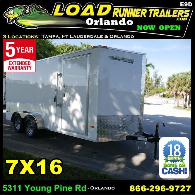 *E9D* 7x16 Enclosed Trailer Cargo 7K Box Trailers|105729| 7 x 16 | EV7-16T3-R