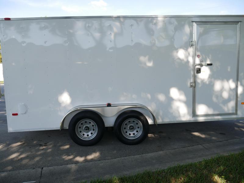 *E9D* 7x16 Enclosed Trailer Cargo 7K Box Trailers 105729  7 x 16   EV7-16T3-R