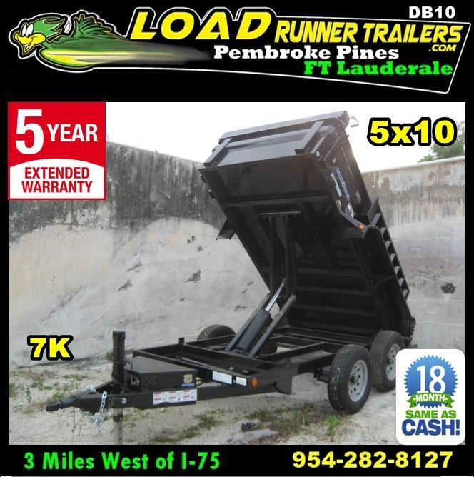 *DB10* 5x10 Load Trail 7K Dump Trailer Tandem Axle Trailers 5 x 10 | D60-10T3-18S in Ashburn, VA