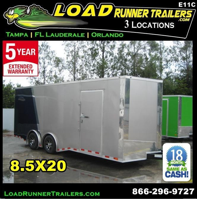 *E11C* 8.5x20 Enclosed Cargo Trailer Car Hauler 8.5 x 20 | EV8.5-20T3-R