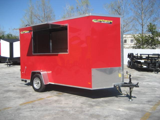 *E80* 6x12 Enclosed w/Concession Window Cargo Food Trailer 6 x 12   EV6-12S3-DD/Cons