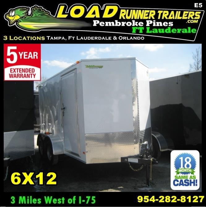 *E5* 6x12 Enclosed Cargo Trailer Box Covered 6 x 12 | EV6-12T3-DD