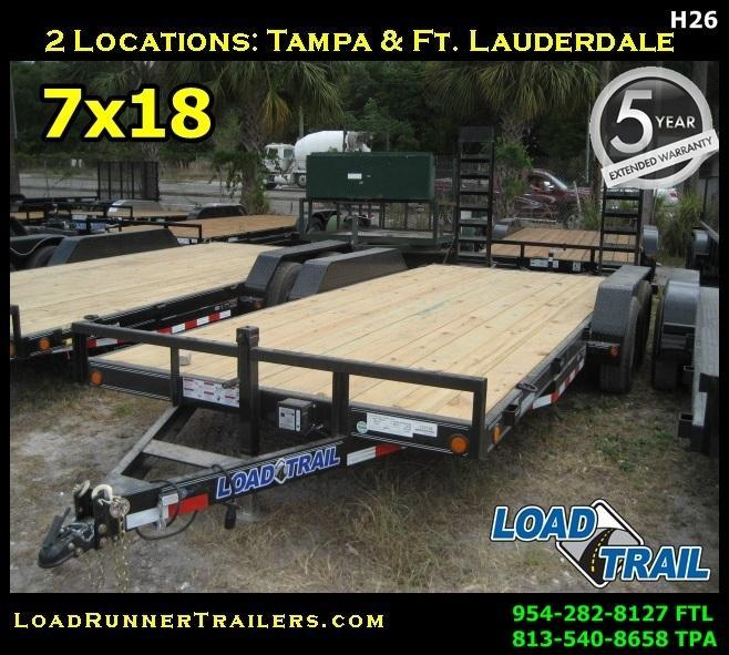 *H26* 7x18 Car Hauler Trailer | 5 TON 7 x 18 | EQ83-18T5-2B-KR