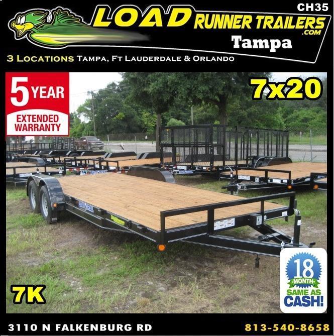*CH35* 7x20 Car Hauler Trailers 7K Haulers & Trailer w/Brakes 7 x 20 | CH83-20T3-1B