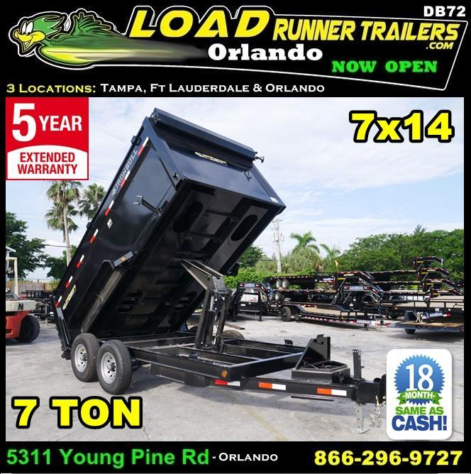 *DB72* 7x14 7 Ton Nortstar Dump Trailer Tandem Axle Trailers 7 x 14 | D83-14T7-48S in Ashburn, VA