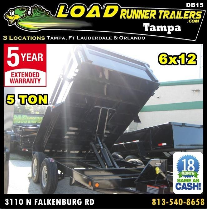*DB15* 6x12 5k Load Trail Dump Trailer Tandem Axle Trailers 6 x 12 | D72-12T5-24S in Ashburn, VA