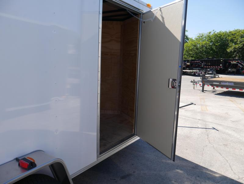 *E4I* 6X12  Enclosed Cargo Trailer LR Trailers|105144 6 x 12 | EV6-12S3-R