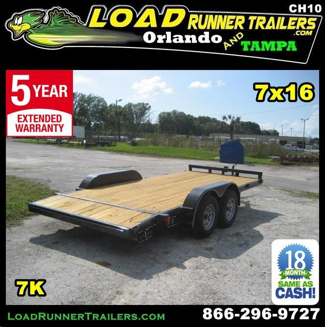 *CH10* 7x16 Car Hauler Trailer W/Brakes LR Trailers & Haulers 7 x 16 | CH82-16T3-1B