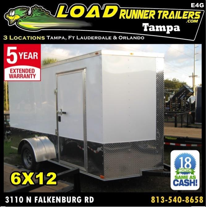 *E4G* 6x12  Enclosed Cargo Trailer LR Car Wash Trailers 6 x 12 | EV6-12S3-R in Ashburn, VA