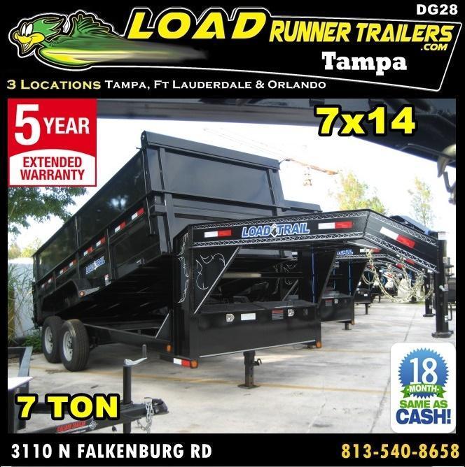 *DG28* 7x16x4 Gooseneck Dump Trailer 7 TON w/4' Sides Trailers 7 x 16 | DG83-14T7-24S+24 in Ashburn, VA