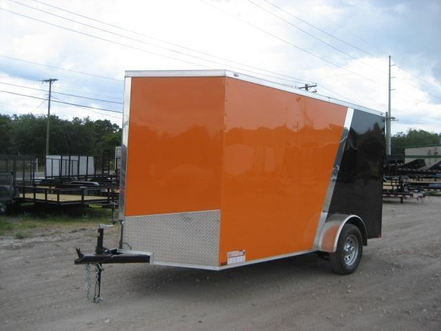 *E4* 6x12 Enclosed Trailer Cargo L R Box Lawn Trailers 6 x 12 | EV6-12S3-R