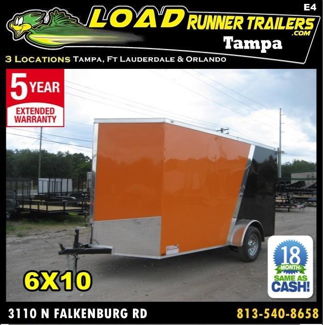 *E4* 6x12 Enclosed Trailer Cargo L R Box Lawn Trailers 6 x 12 | EV6-12S3-R in FL