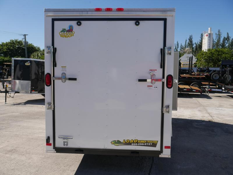 *E4M* 6X12  Enclosed Cargo Trailer |105551|V-Nose Trailers 6 x 12 | EV6-12S3-R