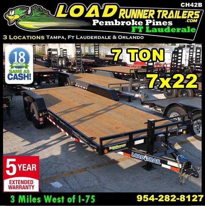 *CH42B* 7x22 7 Ton Car Hauler Trailer  LR Haulers & Trailers 7 x 22 | CH83-22T7