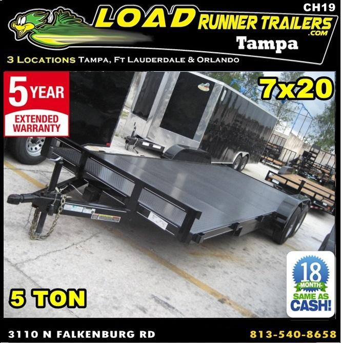 *CH19* 7x20 5 TON Steel Deck Car Hauler Trailer LR Trailers 7 x 20 | CH82-20T5-1B-SD in Ashburn, VA