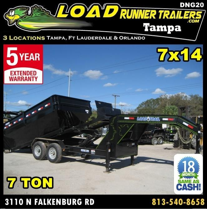 *DNG20* 7x14 Drop N Go Dump Trailer Tandem Axle Drop N Go |LR Trailers 7 x 14 | DNG83-14T7-FRAME in Ashburn, VA