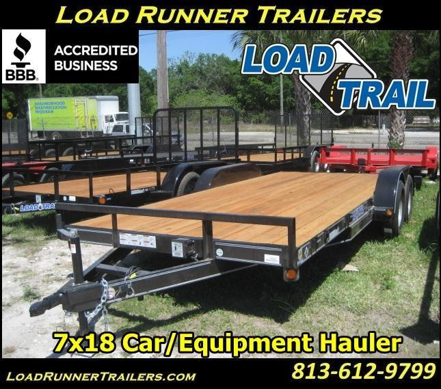 *H72* 7x18 Load Trail Car Hauler Trailer 7K Haulers 7 x 18 | CH83-18T3-1B in Ashburn, VA