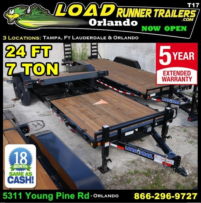 *T17* 7x24 7 TON Tilt Deck Trailer Equipment Hauler Trailers 7 x 24 | T81.5-16+8T7T-GT
