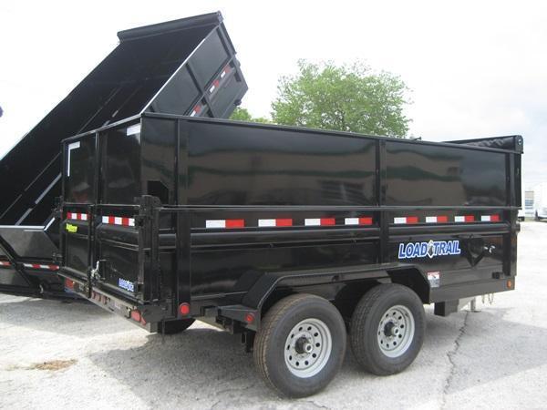 *DB20* 7x14x48 7k Dump Trailer W/4Ft Sides Load Trail Trailers 7 x 14 | D83-14T7-24S+24