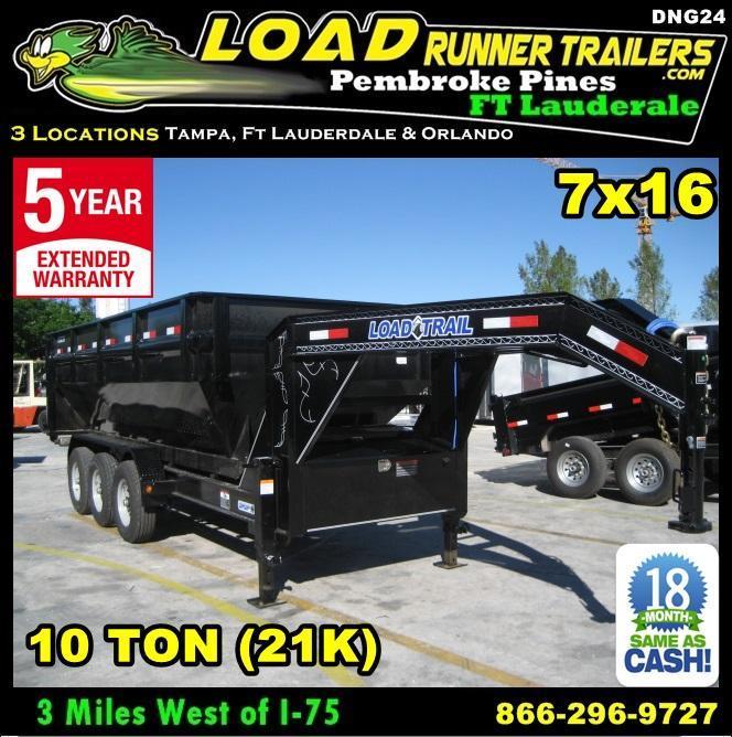 *DNG24* 7x16 Triple Axle Drop N Go Dump Trailer Frame 7 x 16 | DNG/DG83-16TT7-FRAME