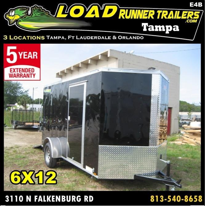 *E4B* 6x12 Cargo Enclosed Trailer Single Axle Trailers 6 x 12 | EV6-12S3-DD