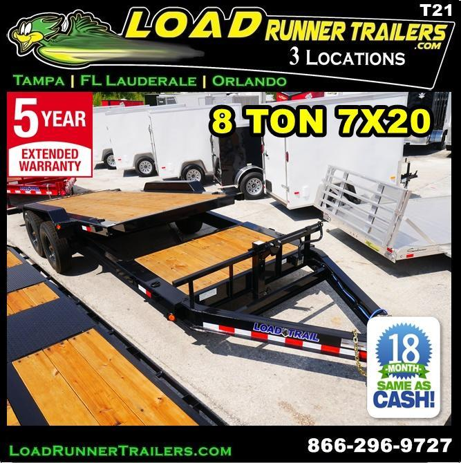 *T21* 7x20 8 TON Tilt Equipment Hauler Trailer 7 x 20 | T83-16+4T8T-GT