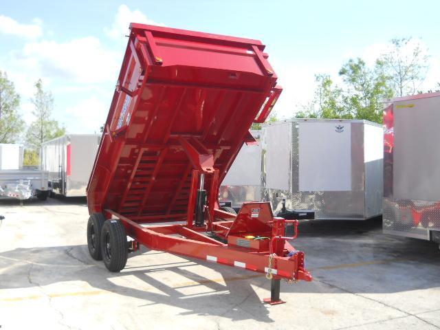 *DB16* 7x12 10 TON Tandem Axle Dump Trailer |LRT Trailers 7 x 12 | D83-12T5-24S