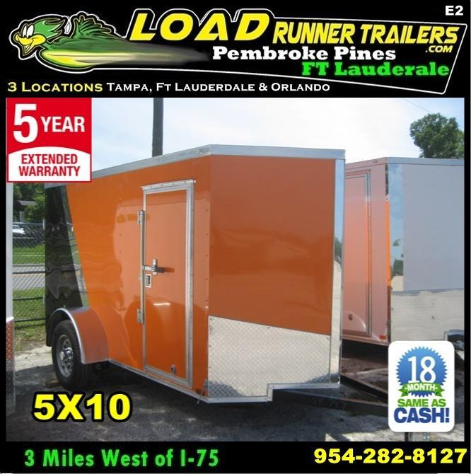 *E2* 5x10 Cargo Enclosed Trailer LR Catering Cargo 5 x 10 | EV5-10S3-R