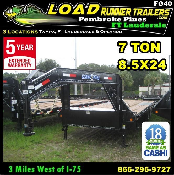 *FG40* 8.5X24 7 TON Flatbed Deck Over Trailer |Butt End Trailers 8.5 x 24 | FG102-24T7-BE in Ashburn, VA