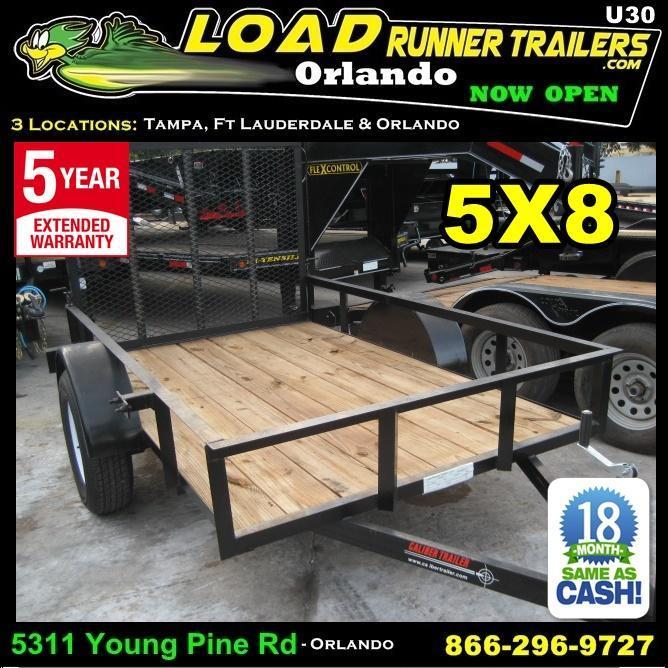 *U30* 5x8 Utility Trailer with Loading Ramp and 3500# Axle 5 x 8   U60-08S3-AR in Ashburn, VA
