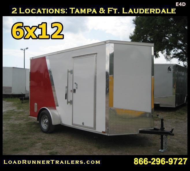 *E4D* 6x12 Enclosed Cargo Trailer LR Carpenter Trailers 6 x 12 | EV6-12S-R