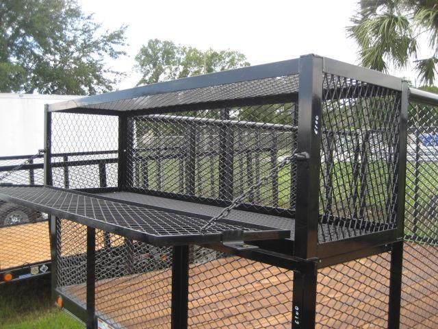 U85 7x12 5k Lawn Trailer 4 Mesh Sides Tool Cage Weed Eater Racks U74