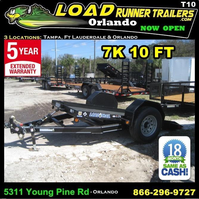 *T10* 5x10 Tilt Deck Bobcat Hauler 7K Torsion Axle 5 x 10 | T60-10S7T-SD/GT