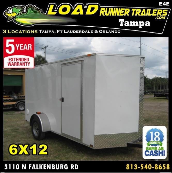 *E4E* 6x12 Enclosed Cargo Trailer SA LR Plumber Trailers 6 x 12 | EV6-12S3-R in Ashburn, VA