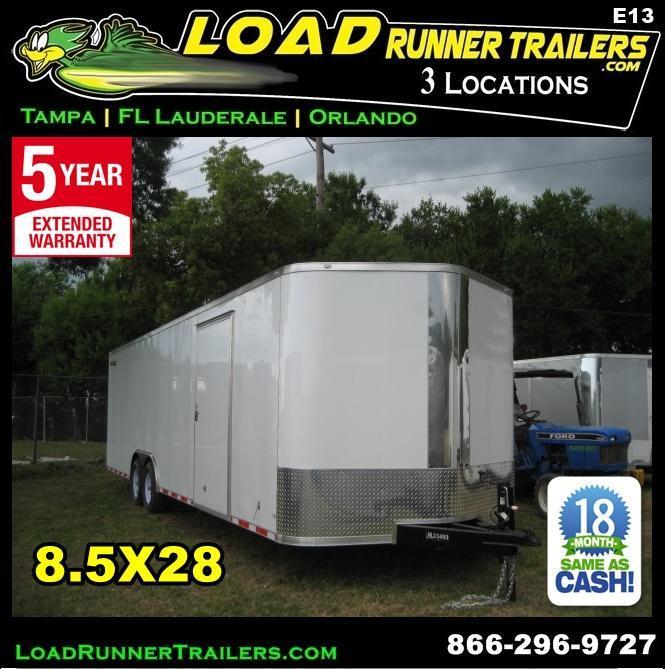 *E13* 8.5x28 Enclosed Cargo Trailer Car Hauler Trailers 8.5 x 28   EV8.5-28T5-R