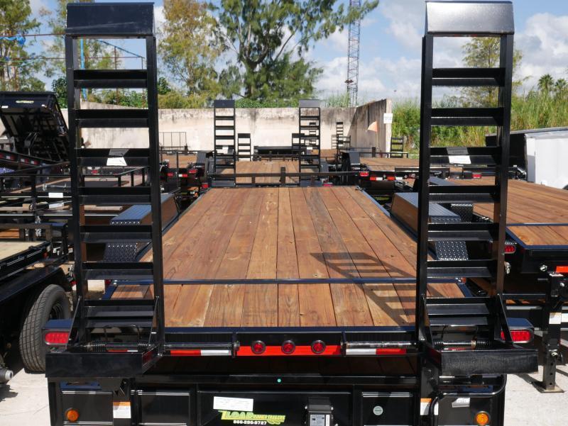 *EQ12* 7x18 5 TON Equipment & Car Hauler Trailer|LR Trailers 7 x 18 | EQ83-18T5-2B-KR