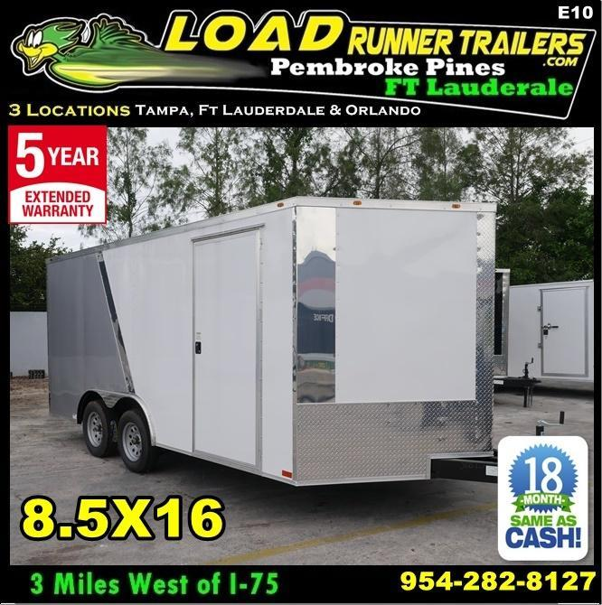 *E10* 8.5x16 Enclosed Cargo Trailer Car Hauler 8.5 x 16 | EV8.5-16T3-R in Ashburn, VA