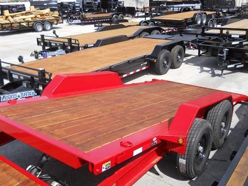 *T23* 7x24 7 TON Tilt Equipment Trailer 16' Title + 8' Flat 7 x 24 | T83-16+8T7-GT
