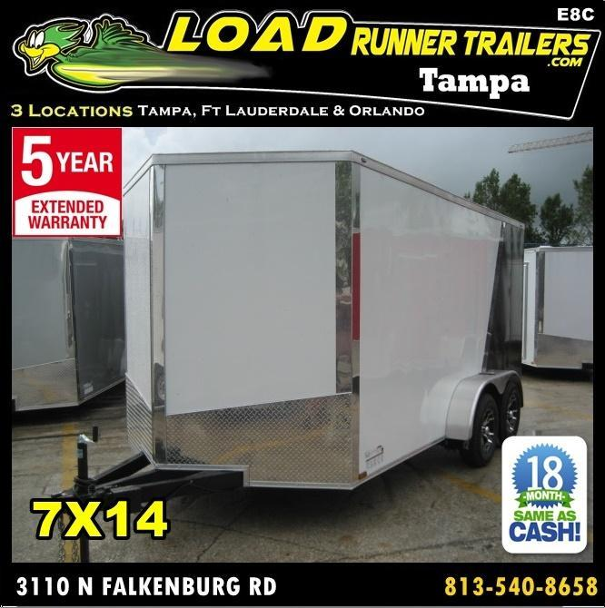*E8C* 7x14 Car Haulers Enclosed Trailer Hauler Trailers 7 x 14 | EV7-14T3-R in Ashburn, VA