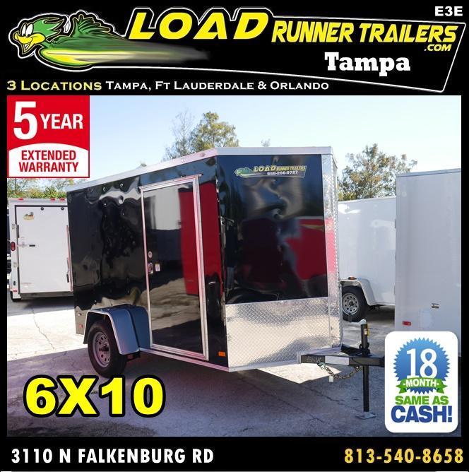 *E3E* 6x10 Enclosed Trailer   Cargo Trailers W/ Ramp #105664  6 x 10   EV6-10S3-R