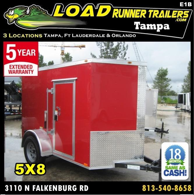 *E1B* 5x8 Enclosed  Trailer L R Cargo Box Trailers 5 x 8 | EV5-8S3-DD in Ashburn, VA