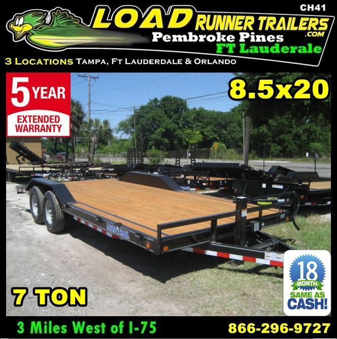 *CH41* 8.5x20 Car Hauler Trailers 7TON Car Trailer/Haulers 8.5 x 20 | CH102-20T7-DOF