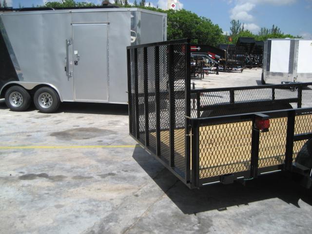 *U16* 7x16 Lawn Utility Trailer w/ Detachable Cage 7 x 16   U76-16T3-0B-AR/2M/CG