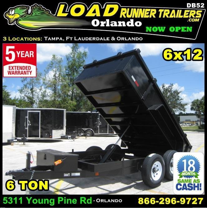 *DB52* 6x12 6 TON Dump Trailer Dumps & Trailers 6 x 12 | D72-12T6-24S in Ashburn, VA