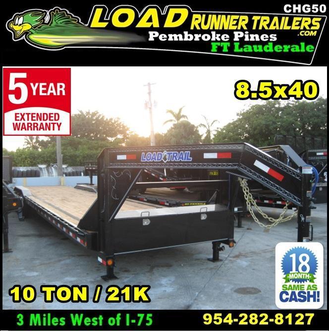 *CHG50* 8.5x40 10 TON Gooseneck Car Hauler Trailer |21K Trailers 8.5 x 40 | CHG102-40TT7-DOF in Ashburn, VA